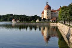 dresden jeziorni moritzburg schloss fotografia royalty free