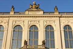 Dresden Johanneum building at dusk stock image