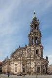 Dresden-Kathedrale der Heiligen Dreifaltigkeit stockbilder