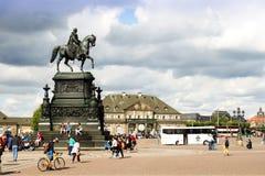 Dresden King Johann monument 03 Stock Images