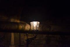 dresden lampgata Arkivfoto