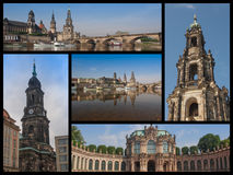 Dresden landmarks collage. Landmarks collage of the city of Dresden Royalty Free Stock Image