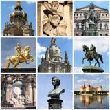 Dresden landmarks collage Stock Photos