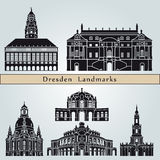 Dresden landmarks and monuments Stock Photo