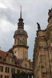 Dresden. The magnificent old town on the river Elbe Stock Image