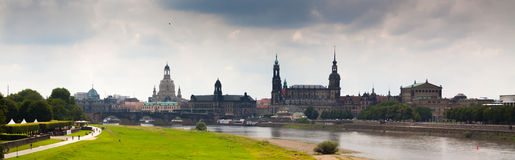 Dresden. The magnificent old town on the river Elbe Royalty Free Stock Image