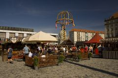 Dresden market Royalty Free Stock Image