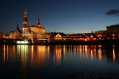 Dresden_mirrored_5 Fotografie Stock