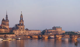 Dresden in the morning Royalty Free Stock Photography