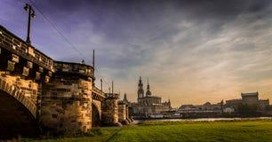 Dresden na noite Fotografia de Stock Royalty Free