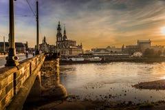 Dresden na noite Imagem de Stock