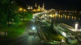Dresden nachts Lizenzfreie Stockbilder