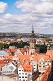 Dresden, nad Starym Miasteczkiem areial widok Zdjęcia Royalty Free