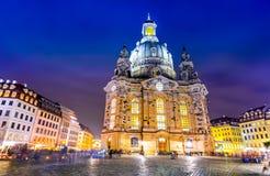 Dresden, Niemcy Frauenkirche - Obrazy Royalty Free