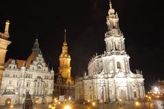 Dresden at night Stock Photos