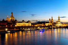 Dresden night Royalty Free Stock Image
