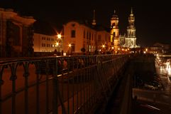 Dresden Night Royalty Free Stock Images