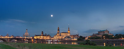 Dresden at night Royalty Free Stock Images