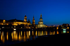 Dresden at night 4 Royalty Free Stock Photography