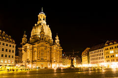 Dresden at night 6 Royalty Free Stock Images