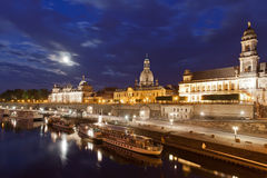 Dresden at night. Within the beautiful City of Dresden, Saxony, Germany Stock Images