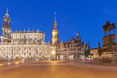 Dresden at night. Within the beautiful City of Dresden, Saxony, Germany Stock Photo