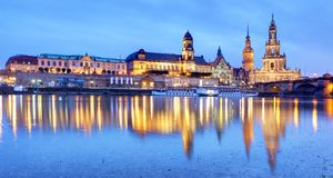 Dresden at night, Germany. Dresden at a night, Germany Stock Photos