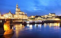 Dresden at night, Germany Stock Photos