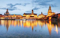 Dresden at night, Germany. Dresden at a night, Germany Stock Images