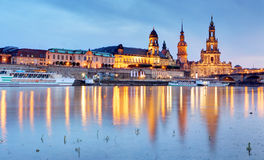 Dresden at night, Germany. Dresden at a night, Germany Stock Image
