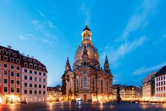 Dresden at night, Germany Stock Image