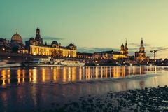 Dresden at night, Germany Stock Images