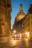Dresden at Night, Germany. View of Dresden at Night Stock Image