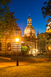 Dresden at Night, Germany. View of Dresden at Night Royalty Free Stock Photos