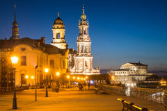 Dresden at Night, Germany. View of Dresden at Night Stock Photography