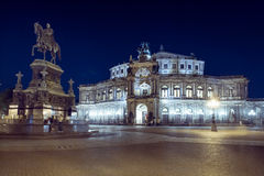 Dresden by night Stock Photos