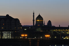 Dresden at night Stock Image
