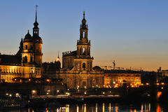 Dresden at night Stock Photo