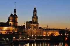 Dresden at night Stock Photo