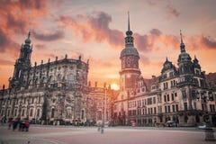Dresden no centro de cidade de Germany imagem de stock royalty free