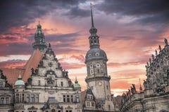 Dresden no centro de cidade de Germany imagens de stock royalty free