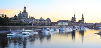 Dresden no por do sol imagem de stock