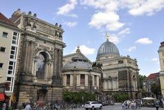 Dresden, o 28 de agosto: Academia das belas artes de Dresden em Alemanha Fotografia de Stock