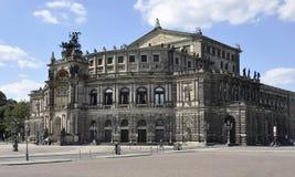 Dresden, o 28 de agosto: Teatro da ópera de Semper de Dresden em Alemanha Foto de Stock Royalty Free