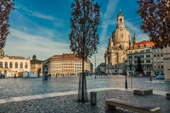 Dresden old town stock photography