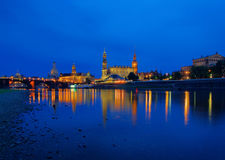 Dresden old town night Stock Photography