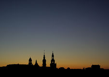 Dresden old town night Stock Images