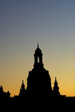 Dresden old town night Royalty Free Stock Photography