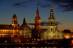 Dresden old town night Stock Image