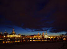 Dresden old town night Stock Photos